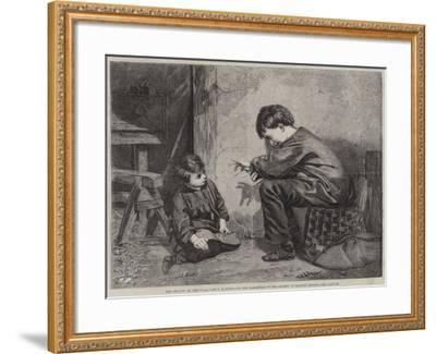 The Shadow on the Wall--Framed Giclee Print