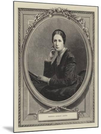 Baroness Burdett Coutts--Mounted Giclee Print