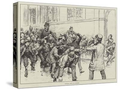 School Boys on Strike--Stretched Canvas Print