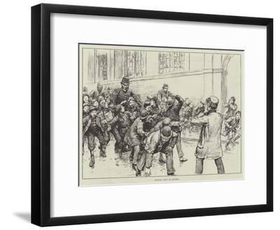 School Boys on Strike--Framed Giclee Print