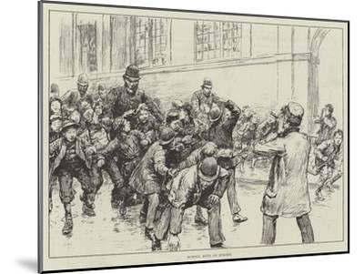 School Boys on Strike--Mounted Giclee Print