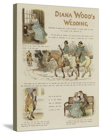 Diana Wood's Wedding--Stretched Canvas Print