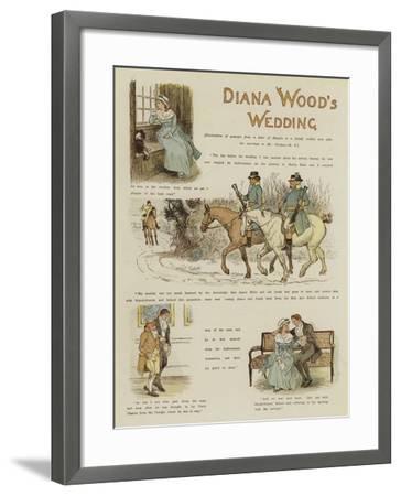 Diana Wood's Wedding--Framed Giclee Print