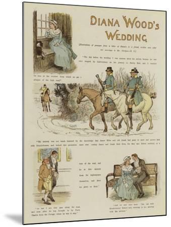 Diana Wood's Wedding--Mounted Giclee Print