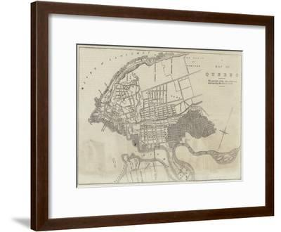 A Map of the Quebec--Framed Giclee Print