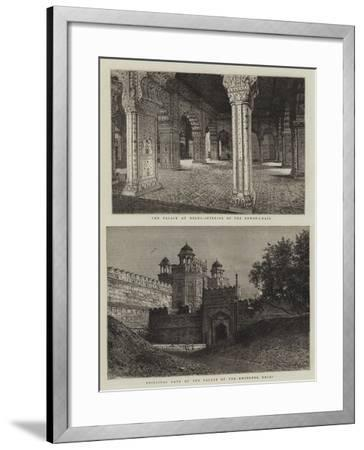 The Palaces at Delhi--Framed Giclee Print