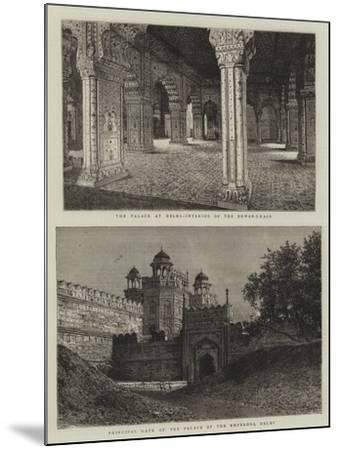 The Palaces at Delhi--Mounted Giclee Print