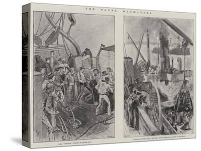 The Naval Manoeuvres--Stretched Canvas Print