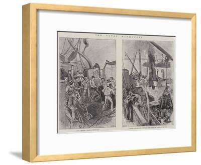 The Naval Manoeuvres--Framed Giclee Print
