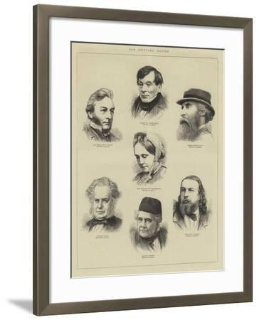 Our Obituary Record--Framed Giclee Print