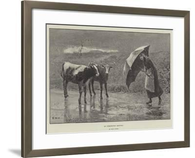 An Unexpected Meeting--Framed Giclee Print
