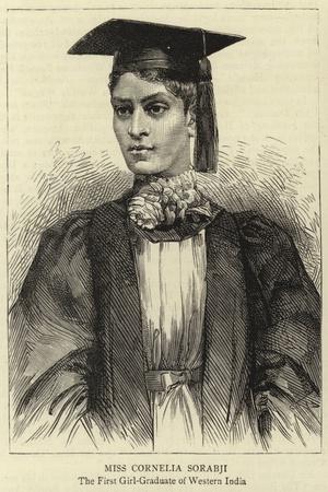 Miss Cornelia Sorabji--Stretched Canvas Print