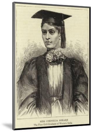 Miss Cornelia Sorabji--Mounted Giclee Print