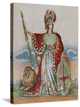 Mrs. Pope as Britannia--Stretched Canvas Print