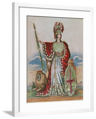 Mrs. Pope as Britannia--Framed Giclee Print