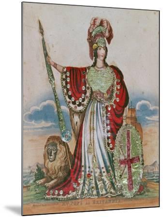 Mrs. Pope as Britannia--Mounted Giclee Print