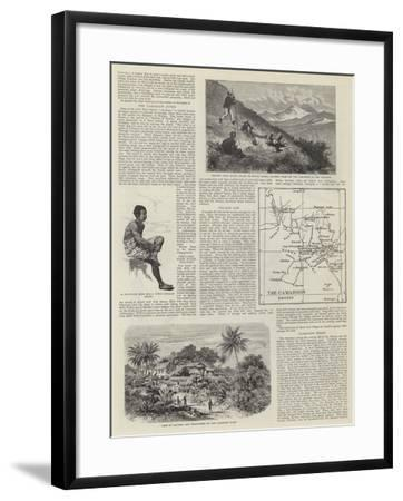 The Germans in Africa--Framed Giclee Print