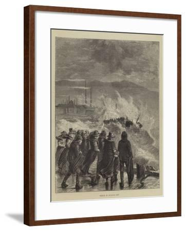 Wreck in Swansea Bay--Framed Giclee Print