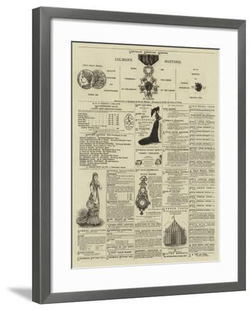 Page of Advertisements--Framed Giclee Print