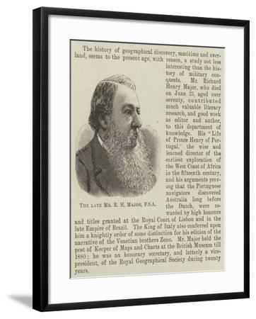 The Late Mr R H Major--Framed Giclee Print