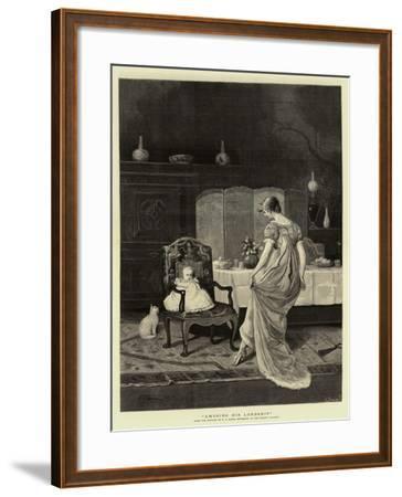 Amusing His Lordship--Framed Giclee Print