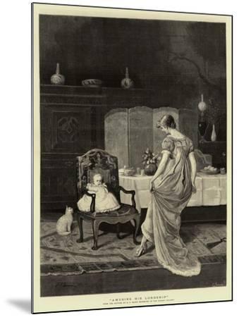 Amusing His Lordship--Mounted Giclee Print