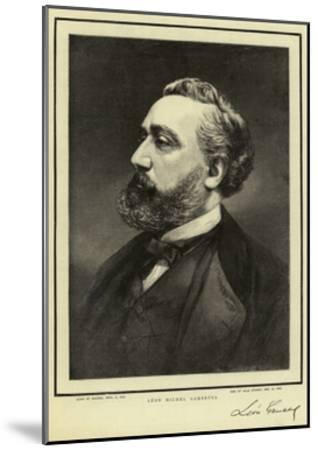 Leon Michel Gambetta--Mounted Giclee Print