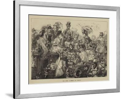 On the Course at Ascot--Framed Giclee Print
