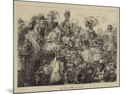 On the Course at Ascot--Mounted Giclee Print