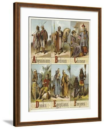 Races of the World--Framed Giclee Print