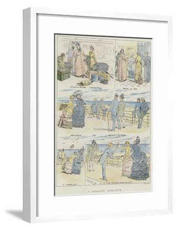 A Seaside Romance--Framed Giclee Print