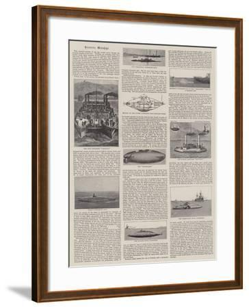 Eccentric Warships--Framed Giclee Print