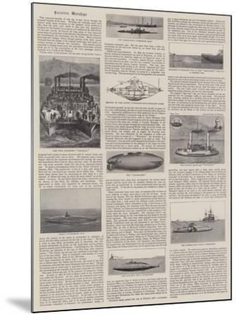 Eccentric Warships--Mounted Giclee Print