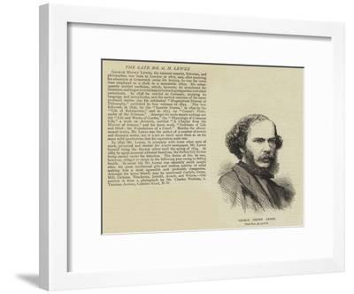 George Henry Lewes--Framed Giclee Print