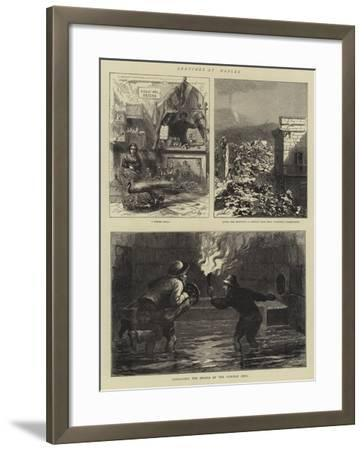Sketches at Naples--Framed Giclee Print