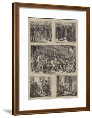 Sketches in Paris--Framed Giclee Print