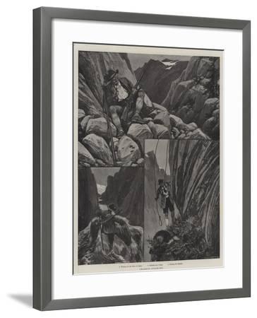 Chamois-Stalking--Framed Giclee Print