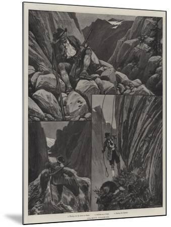 Chamois-Stalking--Mounted Giclee Print