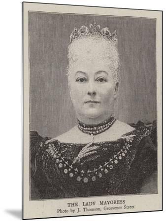 The Lady Mayoress--Mounted Giclee Print