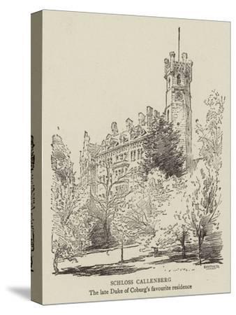 Schloss Callenberg--Stretched Canvas Print