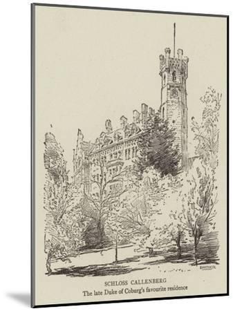 Schloss Callenberg--Mounted Giclee Print