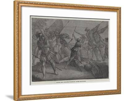 David and Goliath--Framed Giclee Print