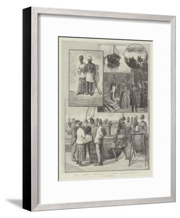 A Day at Colombo--Framed Giclee Print
