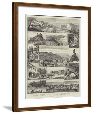 Newquay, Cornwall--Framed Giclee Print