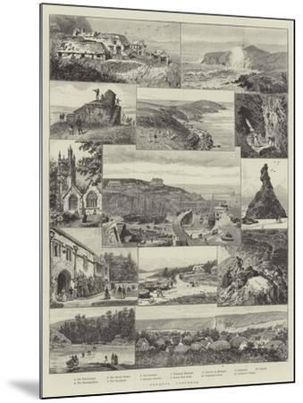 Newquay, Cornwall--Mounted Giclee Print