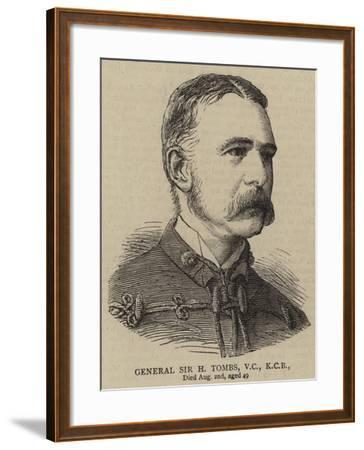 General Sir H Tombs--Framed Giclee Print