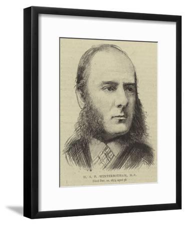 H S P Winterbotham--Framed Giclee Print