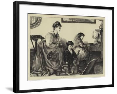 A Musical Rehearsal--Framed Giclee Print