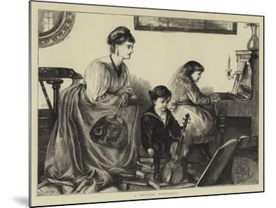 A Musical Rehearsal--Mounted Giclee Print