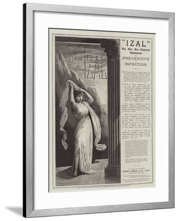 Advertisement, Izal--Framed Giclee Print
